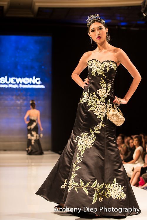 Sue wong black dress